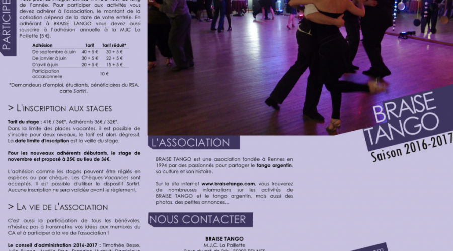 Imprimez la brochure 2016-2017